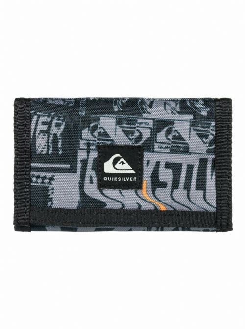 QUIKSILVER MENS BOYS WALLET.EVERYDAILY GREY TRIFOLD NOTE COIN CARD PURSE W20 23